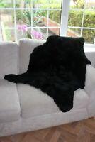 Vogar Black Decoration Genuine Sheepskin Rug with Soft Thick Wool VG-SH010