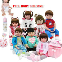 Full Body Silicone Water Proof Bath Toy Reborn Toddler Baby Dolls Lifelike Gift