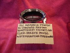 1961 OLDSMOBILE DYNAMIC 88 STARFIRE HOLIDAY FACTORY OEM DASH CLOCK DELETE PLATE