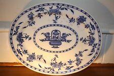 Minton Delft Antique serving platter.  Blue and white porcelain.Circa 1871's