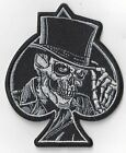 BIKER DEATH SKULL ACE OF SPADES IRON ON PATCH BUY 2 GET 1 FREE = 3 OF THESE