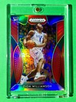 Zion Williamson RARE RED REFRACTOR ROOKIE PANINI PRIZM DRAFT PICKS RC #1 - Mint!