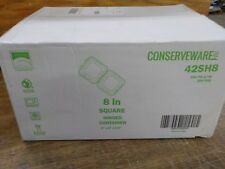 "200 8"" Hinged Earth Friendly Conserveware Deep Containers"