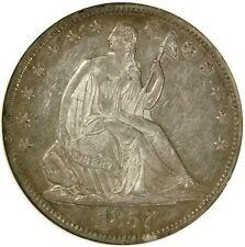 🗽🦅🇺🇸🥰NGC AU55 1857 O SEATED LIBERTY HALF DOLLAR