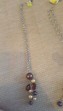 aura brown and gold bead necklace