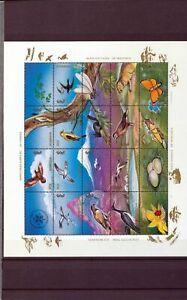 Mongolia Wildlife Birds Silver Mini Sheets MNH x 8(Tro 602