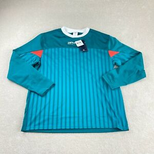 Reebok Soccer Jersey Mens L Seaport Teal Meet You There Vintage FK6159 NEW