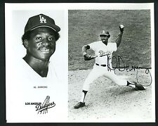 Al Downing Signed Autographed Team Issued 8 x 10 Photo Los Angeles Dodgers