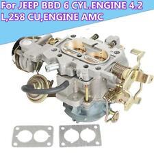 2-BARREL CARBURETOR CARB FIT FOR JEEP BBD 6 CYL 4.2 L 258 CU ENGINE AMC Wrangler