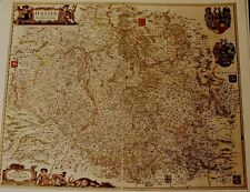 Historische Landkarte Hessen Meiningen Bad Salzungen Wartburg Melsungen  1658