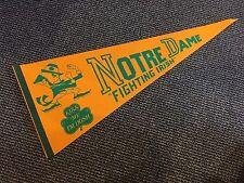 1970'S Notre Dame Fighting Irish Leprechaun Pennant Really Nice
