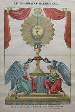 """Imagerie d'Epinal, imprimée par PELLERIN, """"Le Très-Saint Sacrement"""""""