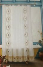 Opalhouse Shower Curtain Fringe Trim Embroidery 100% Cotton 72x72