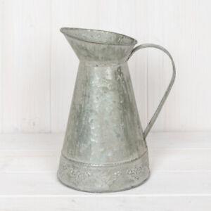 Decorative Zinc Metal Jug Vintage Garden Planter Wedding Flower Vase Pitcher