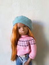 Sasha doll re-root red saran hair