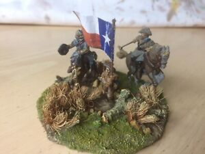 25/28 mm  (White Metal) ACW Confederate Infantry Command Stand
