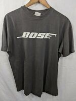 BOSE Single Stitch VTG 90s Hanes Beefy USA Made Nice Fade Shirt XL L Crackling