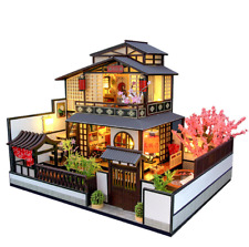 New DIY Miniature Wooden Dollhouse Loft Model Handcrafted Toy Doll Houses Gift
