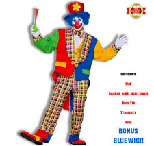 Clown on The Town Adult Circus Funny Party Costume Fancy Dress up One-size Sta