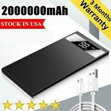 Ultra-thin Portable 2000000mAh Power Bank Fast Charging External Battery Charger