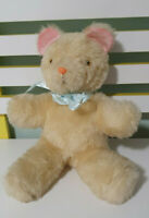 OLD TEDDY BEAR PINK MOUSE EARS LIGHT YELLOW NOT SURE WHAT ELSE TO SAY 27CM