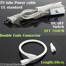 Lot T8 Switch Connector Cable Wire Extension Cord For Integrated Led Tube