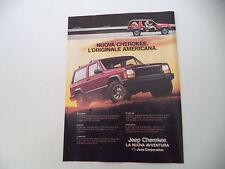 advertising Pubblicità 1985 JEEP CHEROKEE CHIEF