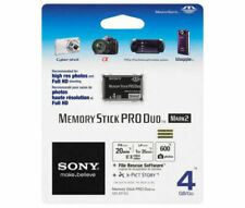 Sony Memory Stick 4GB PRO Duo Mark 2 Camera Camcorder Flash Card 4 GB G MS-MT4G