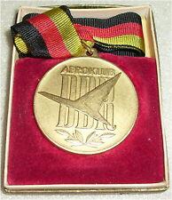DDR Medaille Internationaler Wettkampf AEROKLUB DDR  in OVP (da3305)