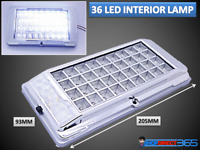 36 LED Bright White Car Van Vehicle Roof Ceiling Interior Light Lamp 12V 2012 UK