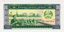 1979 Laos 100 Kip Unc Paper Money Banknotes Currency