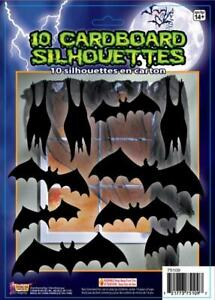 Bats Silhouette Shadows Haunted House Halloween Party Wall Decoration Cutouts