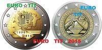 ANDORRE      LOT DES  2  PIECES  DE  X 2  EURO   NEUVE  ANDORRE  2015    RARE