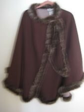 Vintage  Randolph Duke Brown Wrap with Faux Fir Size L