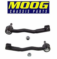 For BMW E38 750iL Set of 2 Front Outer Left & Right Steering Tie Rod Ends Moog