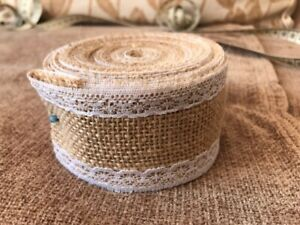 Pretty Hessian and Lace Trim