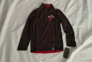 NBA Boy's 1/4 Zip Long Sleeve Miami Heat Black Sweatshirt Size M(5-6)
