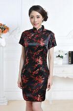 Chinese Style Women's Satin Plum Blossom Dress/Cheongsam Size:S-M-L-XL-XXL-XXXL