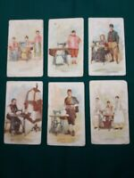 Antique Trade Cards 1890's- Singer Sewing Machine Co. For Overseas Promotions