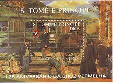 0438+ BLOC S.TOME E PRINCIPE 125°ANNIVER  CROIX ROUGE