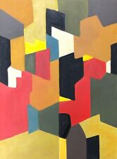 Superbe Grand Tableau Huile Abstraction Abstrait Gout Serge Poliakoff #4