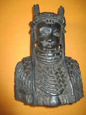 Afrikanische Büste Krieger aus Hartholz Ebenholz geschnitzt 24cm