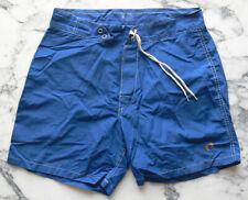 Vtg 70's 80's HANG TEN swimming trunks NYLON surfer BOARD SHORTS size 28 no rsrv