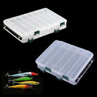 DOUBLE SIDED PLUG/LURE/SPINNER TACKLE BOX Bag 10 Grid or 14 Grid + Fishing Lures
