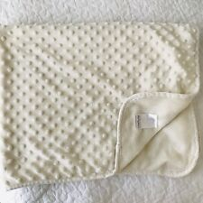 Pitter Patter Baby Blanket Minky Dot Cream Off White Ivory Security Lovey