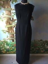 Liz Claiborne Night Black Women Evening Long Sleeveless Dress Size 10 New