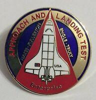New Nasa Space Shuttle Program Approach and Landing Mission Lapel Pin Enterprise