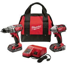 Milwaukee 2691-22 M18 18V Cordless Drill/Driver High Performance Combo Kit New