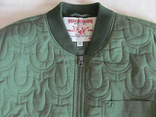 True Religion Embroidery Logo Quilted Jacket-Skate Park Green-Men's XL-NWT $269