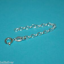 """925 Sterling Silver 3"""" CHAIN EXTENDER with Spring Ring Clasp - Genuine Silver!"""